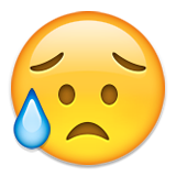 Disappointed But Relieved Face Emoji (Apple/iOS Version)