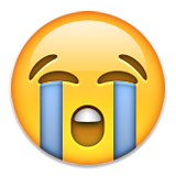 Loudly Crying Face Emoji (Apple/iOS Version)