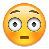Flushed Face Emoji (Apple/iOS Version)