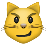 Cat Face With Wry Smile Emoji (Apple/iOS Version)