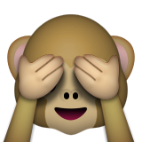See-no-evil Monkey Emoji (Apple/iOS Version)