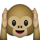 Hear-no-evil Monkey Emoji (Apple/iOS Version)