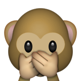 Speak-no-evil Monkey Emoji (Apple/iOS Version)