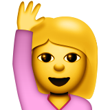 Happy Person Raising One Hand Emoji (Apple/iOS Version)