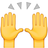 Person Raising Both Hands In Celebration Emoji (Apple/iOS Version)