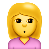 Person With Pouting Face Emoji (Apple/iOS Version)