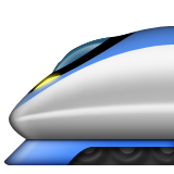 High-speed Train Emoji (Apple/iOS Version)