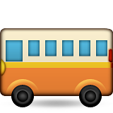 Bus Emoji (Apple/iOS Version)