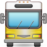 Oncoming Bus Emoji (Apple/iOS Version)