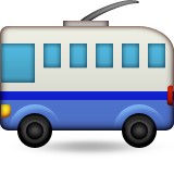 Trolleybus Emoji (Apple/iOS Version)