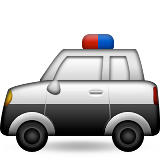 Police Car Emoji (Apple/iOS Version)