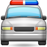 Oncoming Police Car Emoji (Apple/iOS Version)