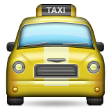 Oncoming Taxi Emoji (Apple/iOS Version)