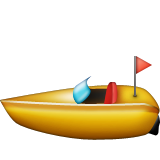 Speedboat Emoji (Apple/iOS Version)
