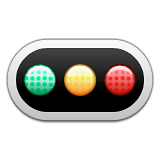 Horizontal Traffic Light Emoji (Apple/iOS Version)