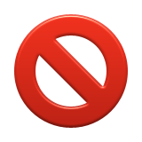 No Entry Sign Emoji (Apple/iOS Version)