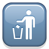 Put Litter In Its Place Symbol Emoji (Apple/iOS Version)