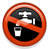 Non-potable Water Symbol Emoji (Apple/iOS Version)