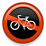 No Bicycles Emoji (Apple/iOS Version)