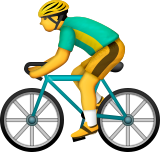 Bicyclist Emoji (Apple/iOS Version)