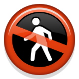 No Pedestrians Emoji (Apple/iOS Version)