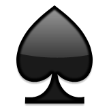 Black Spade Suit Emoji (Apple/iOS Version)