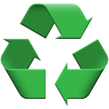 Black Universal Recycling Symbol Emoji (Apple/iOS Version)