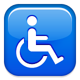 Wheelchair Symbol Emoji (Apple/iOS Version)