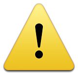 Warning Sign Emoji (Apple/iOS Version)
