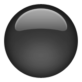 Medium Black Circle Emoji (Apple/iOS Version)