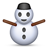 Snowman Without Snow Emoji (Apple/iOS Version)