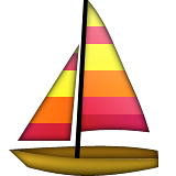 Sailboat Emoji (Apple/iOS Version)