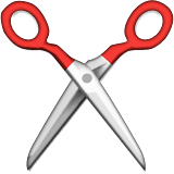 Black Scissors Emoji (Apple/iOS Version)