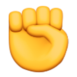 Raised Fist Emoji (Apple/iOS Version)