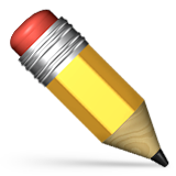 Pencil Emoji (Apple/iOS Version)