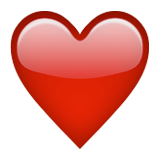 Heavy Black Heart Emoji (Apple/iOS Version)