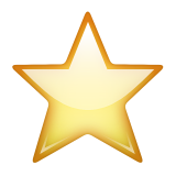 White Medium Star Emoji (Apple/iOS Version)