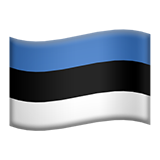 Flag For Estonia Emoji (Apple/iOS Version)