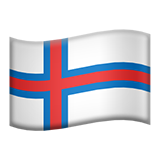 Flag For Faroe Islands Emoji (Apple/iOS Version)