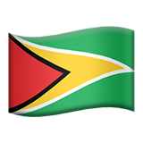 Flag For Guyana Emoji (Apple/iOS Version)