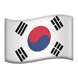 Flag For South Korea Emoji (Apple/iOS Version)