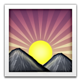 Sunrise Over Mountains Emoji (Apple/iOS Version)