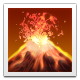 Volcano Emoji (Apple/iOS Version)