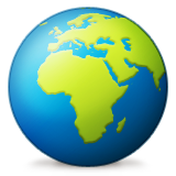 Earth Globe Europe-africa Emoji (Apple/iOS Version)