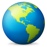 Earth Globe Americas Emoji (Apple/iOS Version)