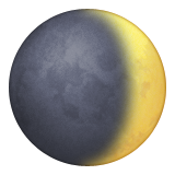 Waxing Crescent Moon Symbol Emoji (Apple/iOS Version)