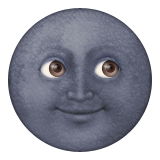 New Moon With Face Emoji (Apple/iOS Version)