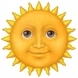 Sun With Face Emoji (Apple/iOS Version)