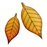 Fallen Leaf Emoji (Apple/iOS Version)