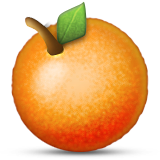 Tangerine Emoji (Apple/iOS Version)